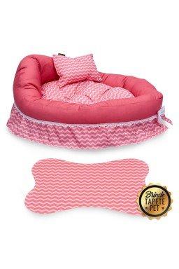 berco para cachorro chevron tapete pet rosa cbb1005 4