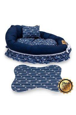 berco para cachorro corda tapete pet azul escuro cbb1009 4