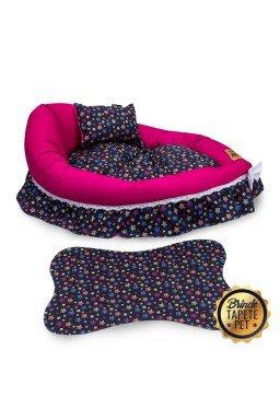 berco para cachorro estrela rosa tapete pet preto cbb1012 4