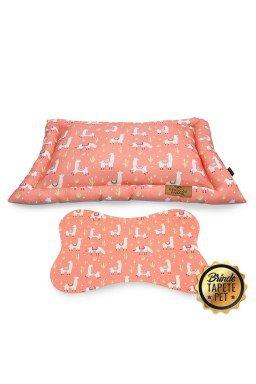 colchonete para cachorro lhama rosa cht1010 2