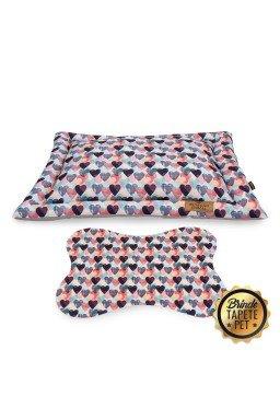 colchonete para cachorro coracao tapete pet azul rosa cht1023 2