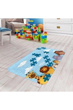 tapete de atividades infantil animais quebra cabeca azul claro tpinf0049 2