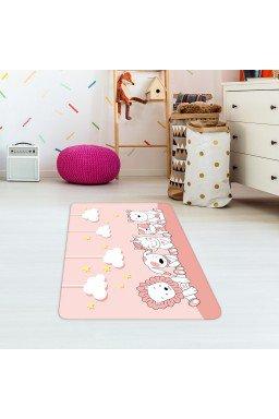 tapete de atividades infantil animais rosa claro tpinf0069 2