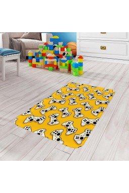 tapete de atividades infantil video game amarelo tpinf0030 2