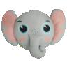 almofada infantil safari elefante 40 x 60 cinza saf002