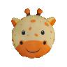 almofada infantil safari girafa 40 x 40 amarelo saf003