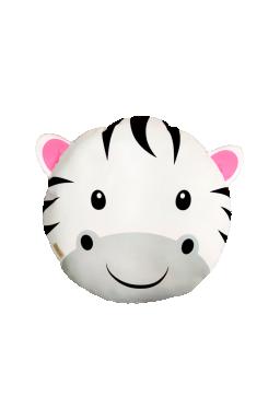 almofada infantil safari zebra 40 x 40 branco saf005