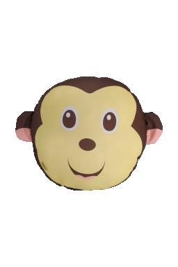 almofada infantil safari macaco 40 x 40 marrom saf004